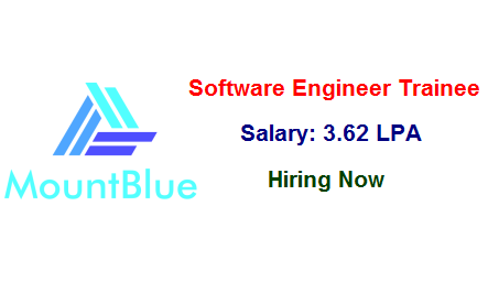 MountBlue is Hiring For Software Engineer Trainee!